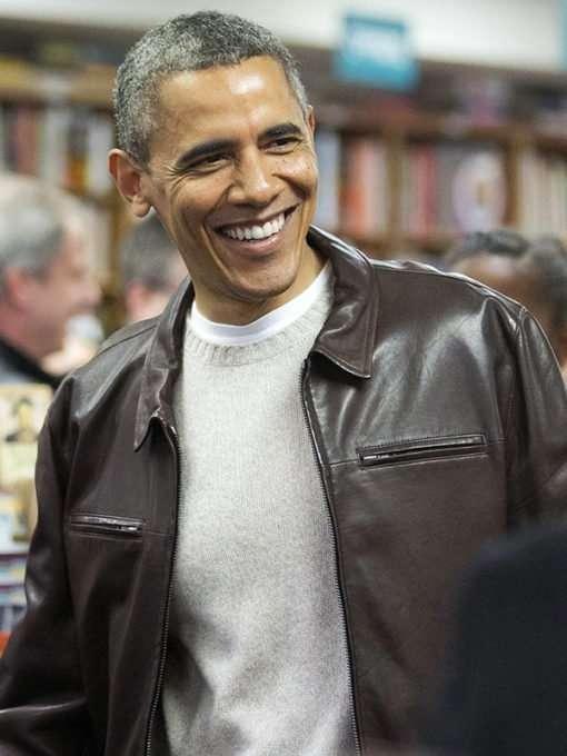 President Obama Brown Jacket