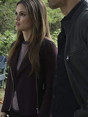 TV Series Take Two Sam Swift Black and Purple Jacket