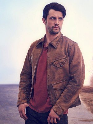 Roswell New Mexico Michael Trevino Distressed Leather Jacket