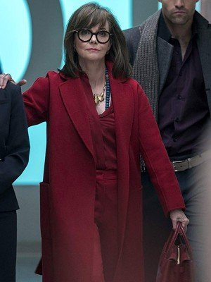 Maniac Sally Field Red Wool Coat
