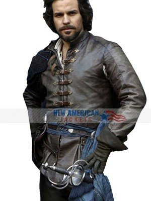 Aramis The Musketeers Brown Leather Jacket