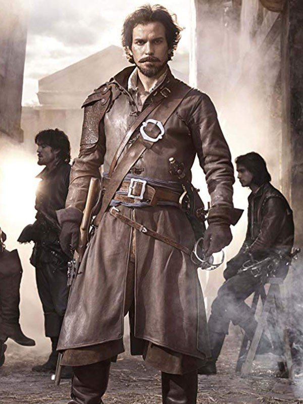Santiago Cabrera The Musketeers Leather Coat