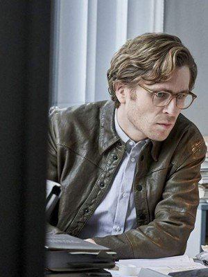 The Girl in the Spider's Web Sverrir Gudnason Brown Jacket