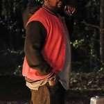TV Series Atlanta Alfred Miles Red and Black Varsity Jacket