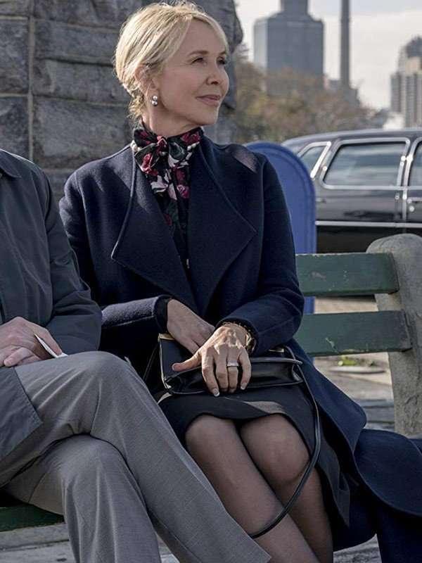 TV Series Maniac Trudie Styler Blue Coat