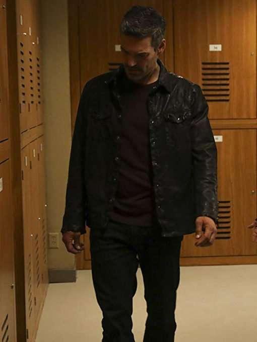 TV Series Take Two Eddie Valetik Black Leather Jacket