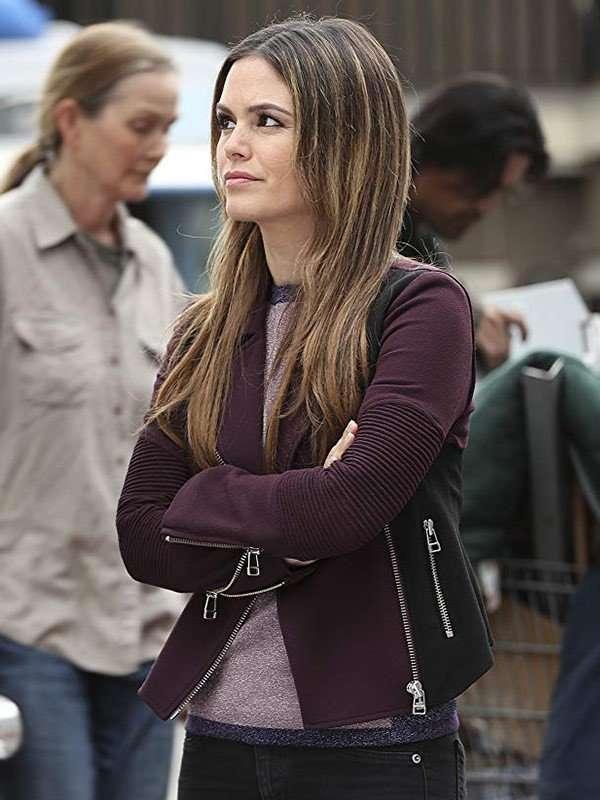 TV Series Take Two Sam Swift Black and Purple Jacket