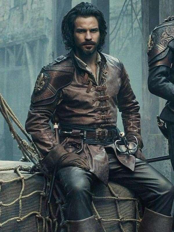 TV Series The Musketeers Santiago Cabrera Leather Jacket