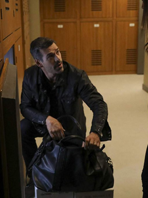 Take Two Eddie Cibrian Black Leather Jacket
