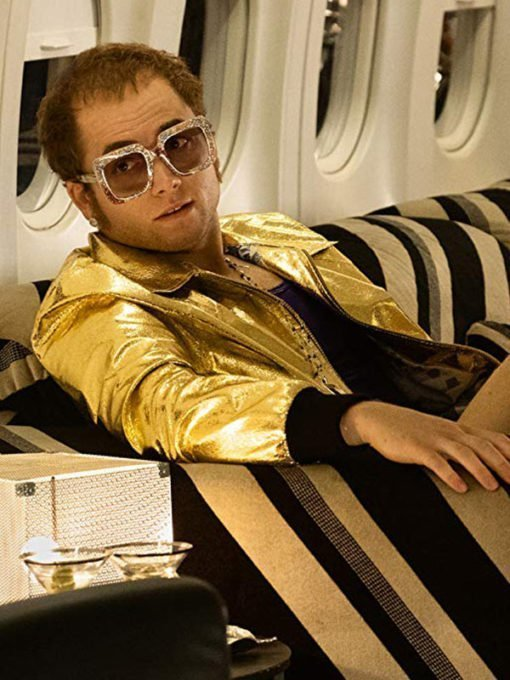 Taron Egerton Golden Jacket from Rocketman