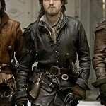 Tom Burke The Musketeers Athos Black Leather Jacket
