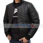 Usher Black Bomber Leather Jacket