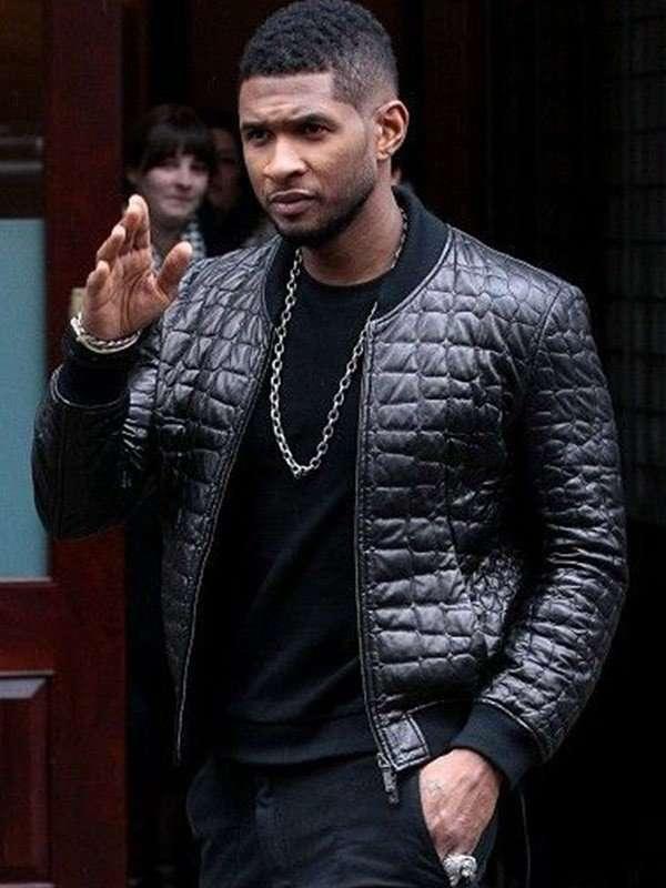 Usher Black Leather Jacket