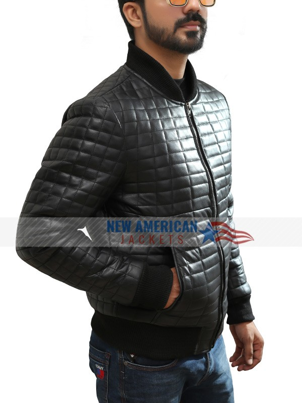 Usher Bomber Quilted Leather Jacket