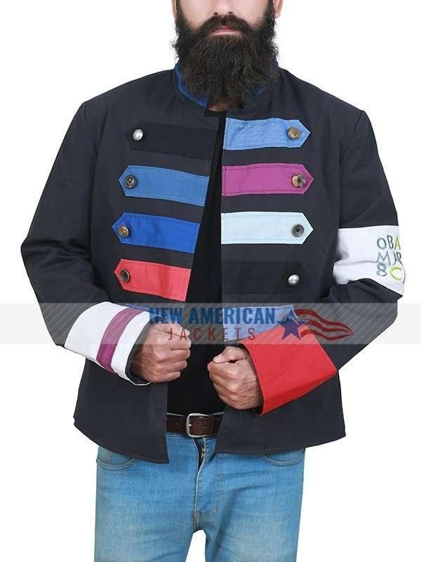 Viva La Vida Chris Martin Black Military Jacket