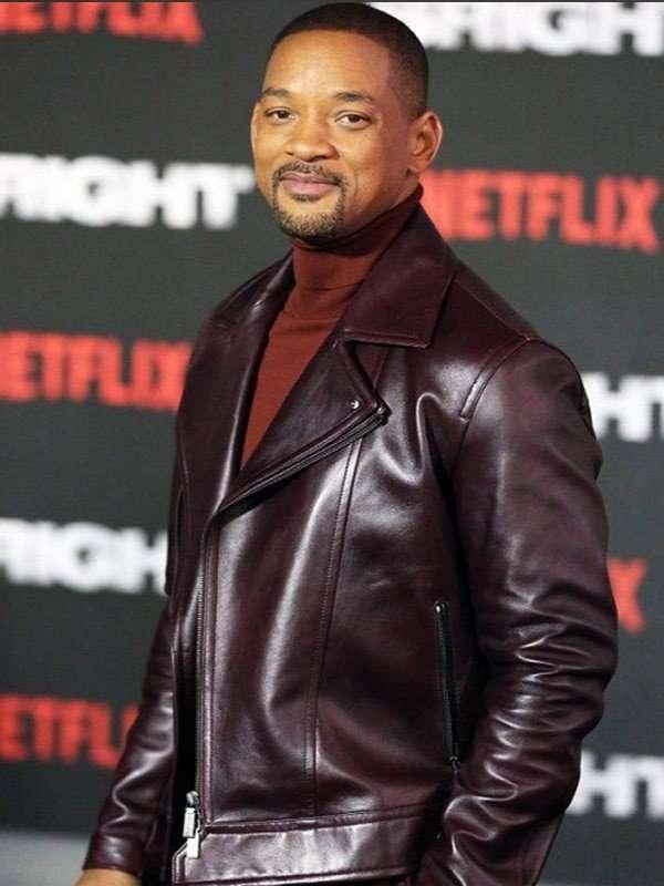 Will Smith Aladdin Promotion Leather Jacket