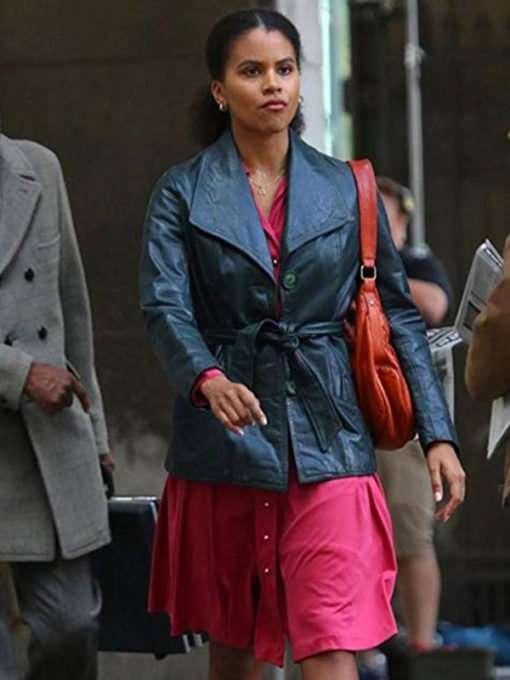 Zazie Beetz Leather Coat from Joker