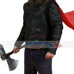 Infinity War Chris Hemsworth Brown Leather Vest