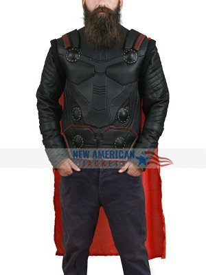 Thor Ragnarok Chris Hemsworth Brown Leather Vest