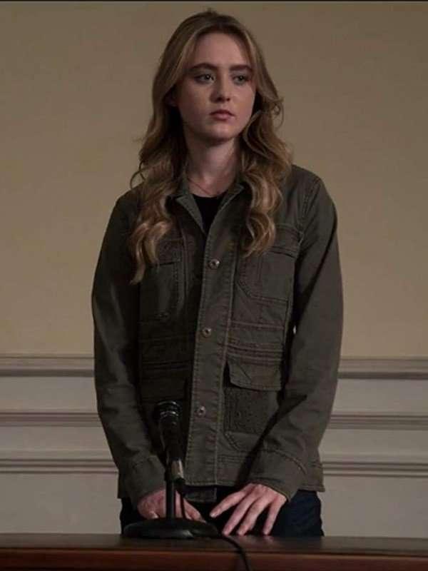 Allie Pressman TV Series The Society Green Cotton Jacket