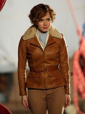 Night at the Museum 2 Amy Adams Brown Leather Jacket