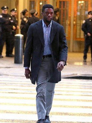 21 Bridges Chadwick Boseman Black Coat