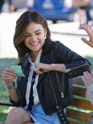 Lucy Hale Pretty Little Liars Black Leather Jacket