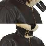 Black Aviator B3 Real Shearling Bomber Leather Jacket