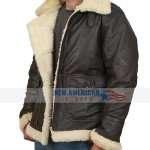 Black Aviator B3 Real Shearling Leather Jacket