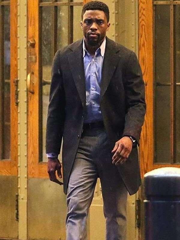Chadwick Boseman 21 Bridges Coat