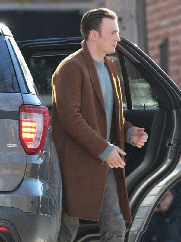 Chris Evans Knives Out Alex Robinson Wool Coat