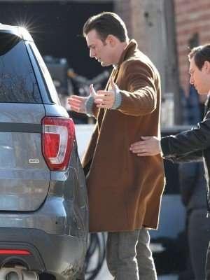 Chris Evans Knives Out Alex Robinson Wool Coat