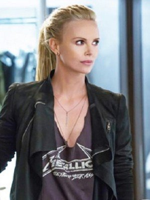 The Fate of the Furious Charlize Theron Black Leather Jacket