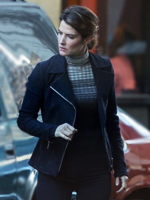 Cobie Smulders Spiderman Far from Home Black Leather Jacket
