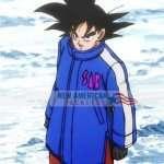 Dragon Ball Super Broly Goku Sab Blue Leather Coat Jacket