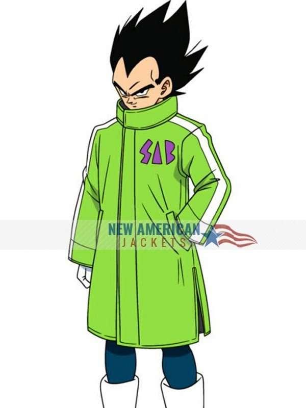 Dragon Ball Super Broly Vegeta Sab Green Coat Jacket