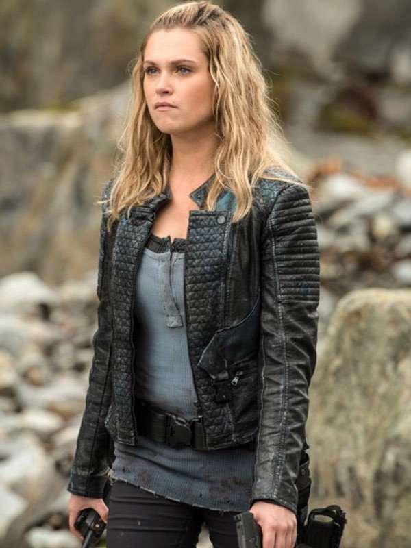 Eliza Taylor The 100 Clarke Griffin Black Leather Jacket
