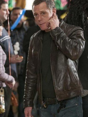 Chicago PD Hank Voight Brown Leather Jacket