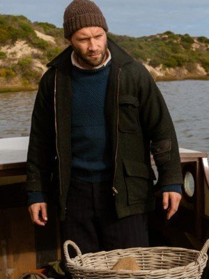 Storm Boy Jai Courtney Black Wool Coat