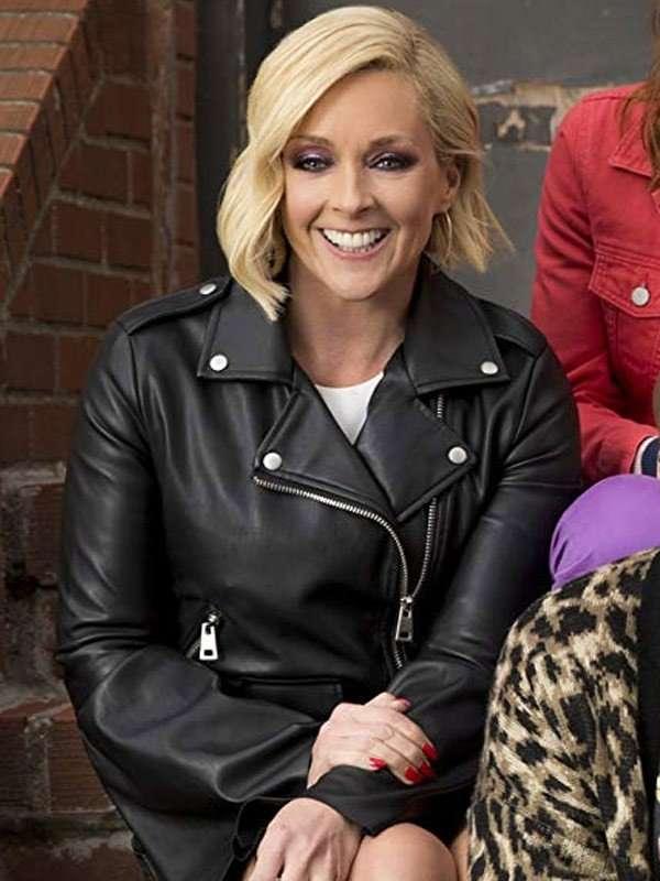 Jacqueline White Black Jacket