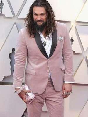 Jason Momoa Baby Pink Tuxedo