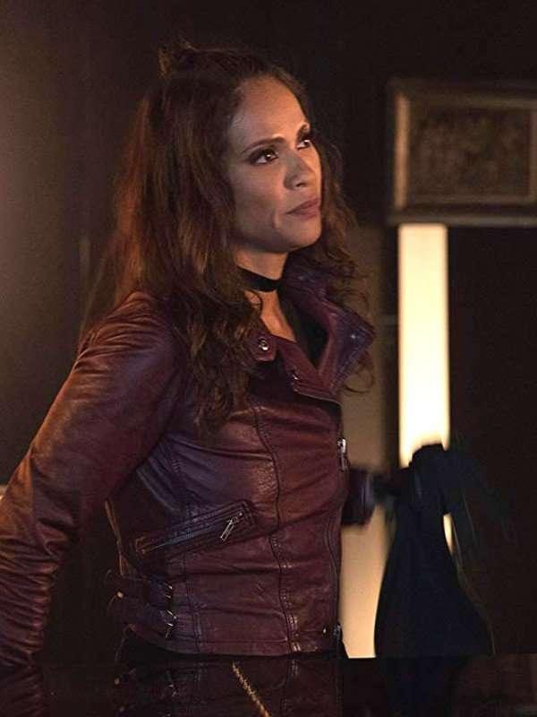 Lucifer Lesley-Ann Brandt Maroon Jacket