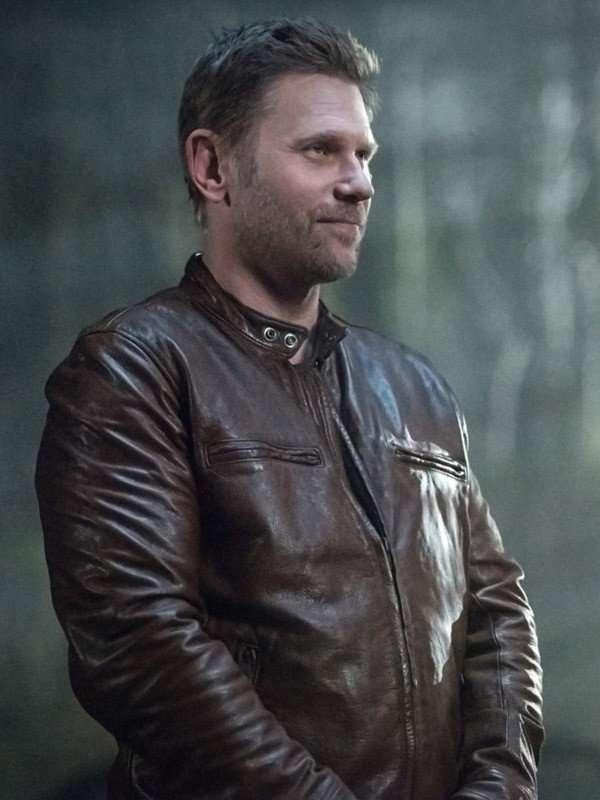 Mark Pellegrino TV Series Supernatural Brown Jacket
