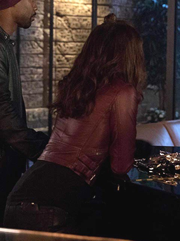 Mazikeen Lucifer Lesley-Ann Brandt Leather Jacket