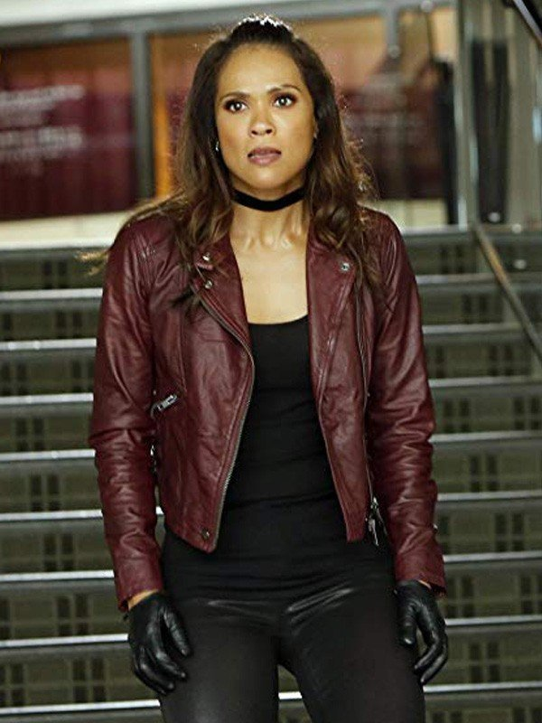 Mazikeen TV Series Lucifer Maroon Leather Jacket