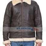 Mens Black B3 Black Leather Jacket