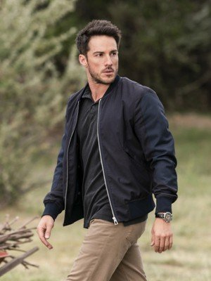 Roswell New Mexico Michael Trevino Black Bomber Jacket
