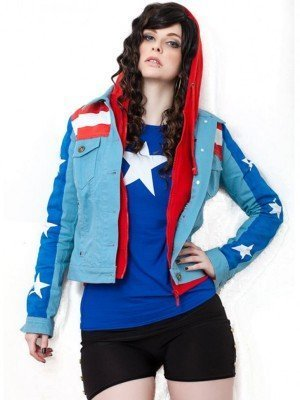 Miss America Chavez Young Avengers Denim Jacket
