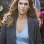 Nancy McKenna L.A.'s Finest Jessica Alba Plaid Blazer