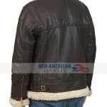 Real Sheepskin Shearling Aviator Jacket Mens